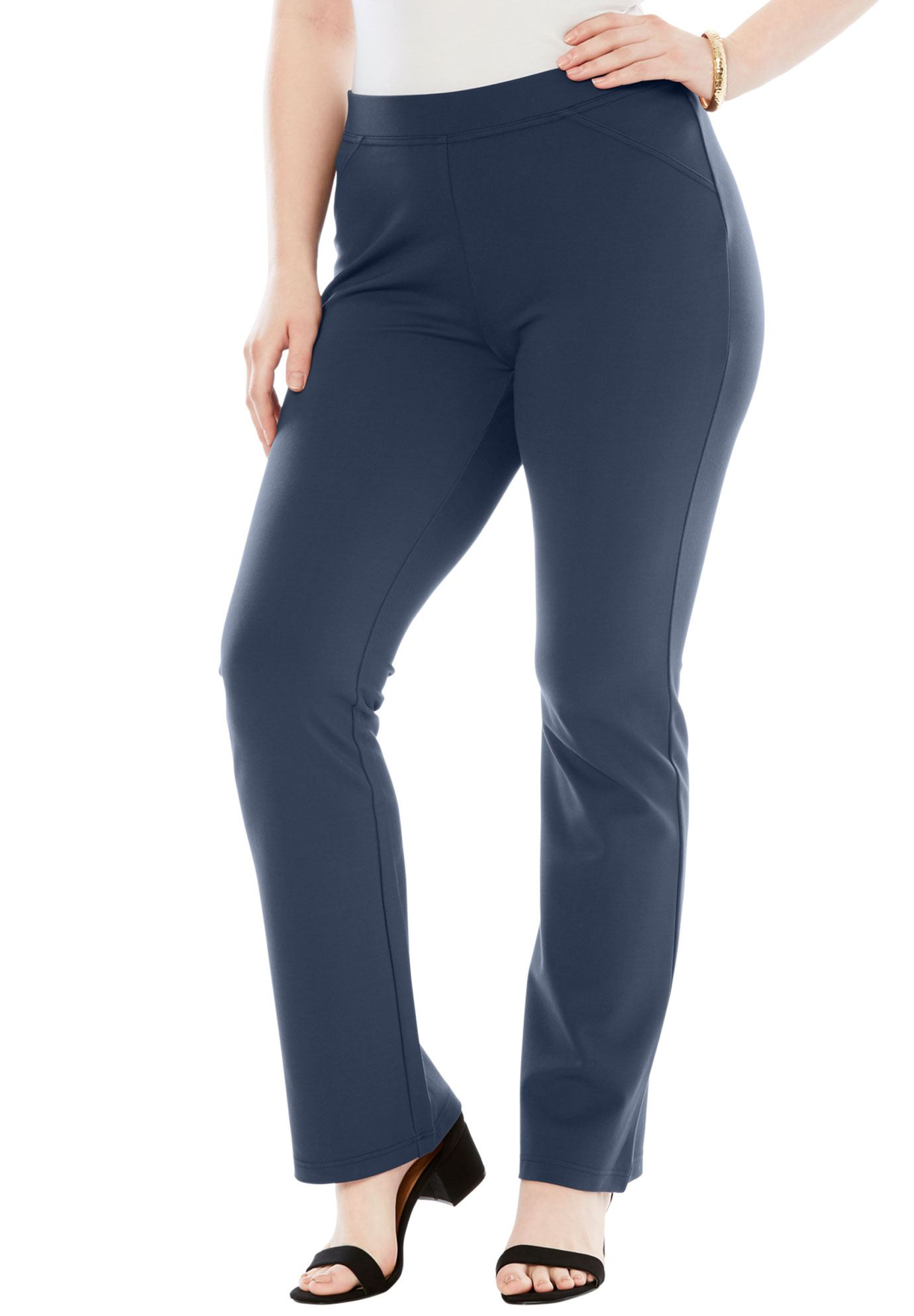 Roaman's Plus Size Ultimate Ponte Bootcut Pant