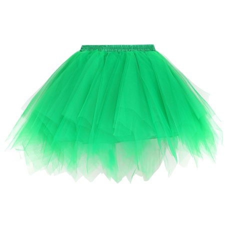 Women's 50s Vintage Ballet Bubble Tutu Skirt Petticoat, Green](Diy 50s Skirt)