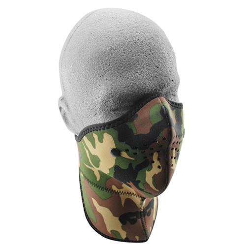 NEO-X FACE MASK, REMOVABLE FILTER & NK SHLD, WOODLAND CAMO