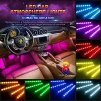 Product Image 4pcs Set Spencer Car Led Strip Lights 36 Multicolor Music Interior Atmosphere