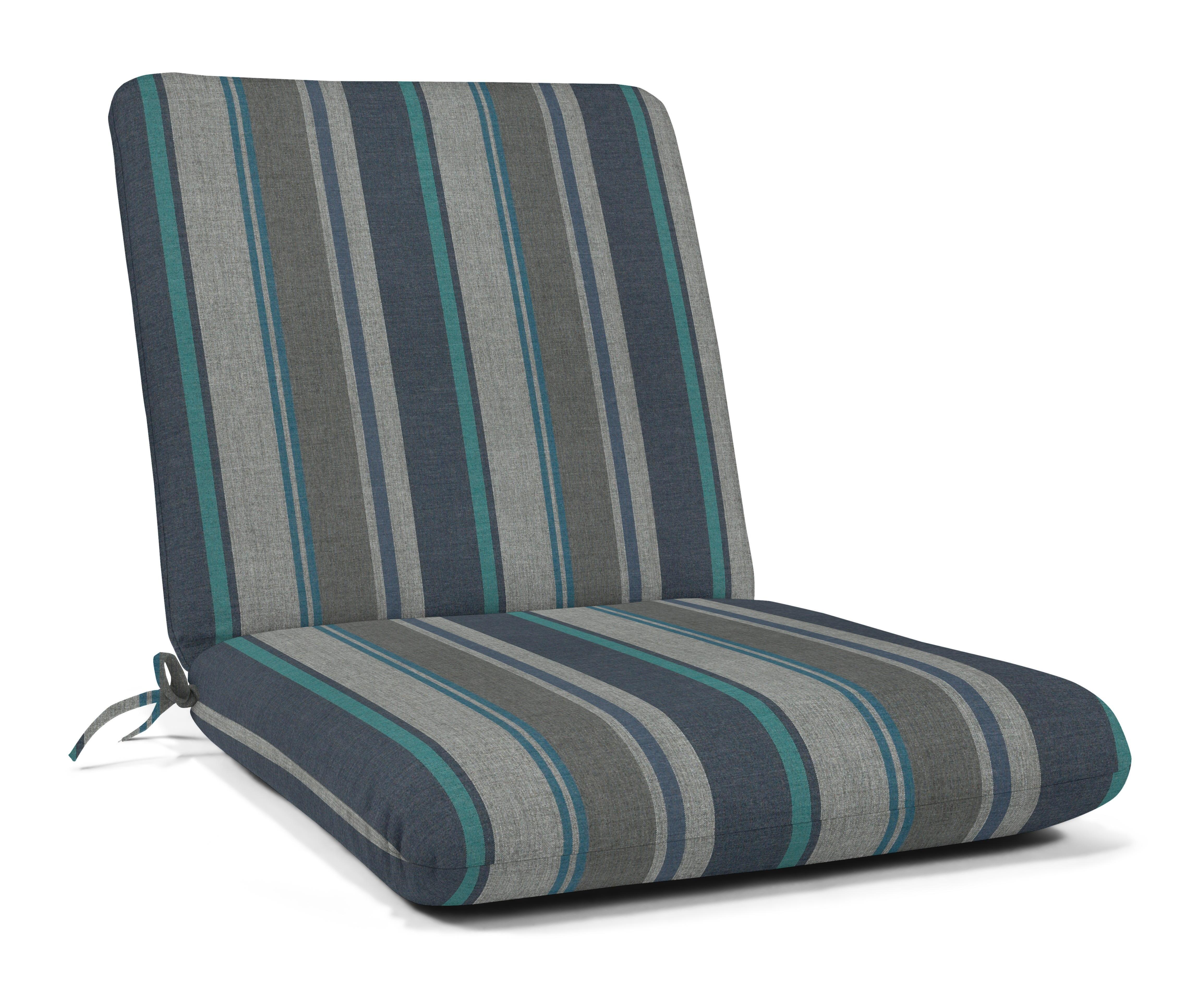 Sunbrella Striped Hinged Chair Cushion