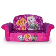 Marshmallow Furniture, Children's 2 in 1 Flip Open Foam Sofa, Nickelodeon Paw Patrol, Pink Edition, by Spin Master