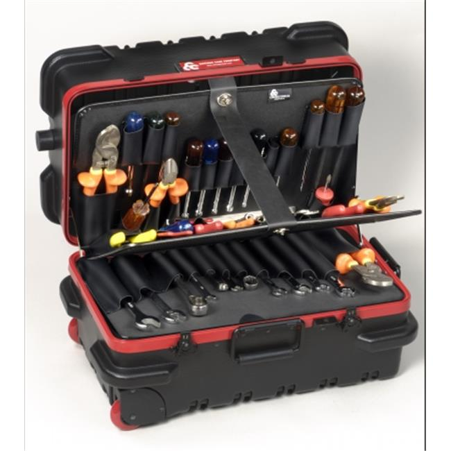 Chicago Case Co 95-8581 RMMSLCART Military Ready Slimline Black Tool Case