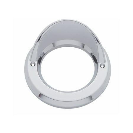 """Round Chrome Visor Bezel / Covers 2.5"""" LED Side Marker Clearance Light"""