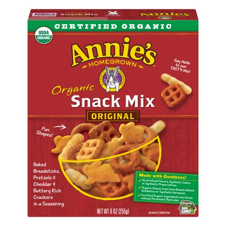 (2 Pack) Annie's Organic Snack Mix Breadsticks Pretzels & Cheddar Crackers 9 oz](Halloween Mix Snack)