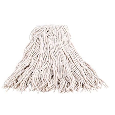 """Abco Products Economy 4 Ply Cut-end Mop, Cotton, 1"""" Headband, White, #32 Size (Pack of 12)"""