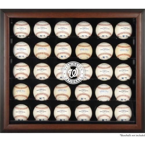 Washington Nationals Fanatics Authentic Logo Brown Framed 30-Ball Display Case - No Size