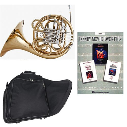 Band Directors Choice Double French Horn Key of F/Bb - Disney Movie Favorites Pack; Includes Intermediate French Horn, Case, Accessories & Disney Movie Favorites Book