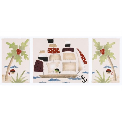Cotton Tale 3 Piece Pirates Cove Canvas Art Set