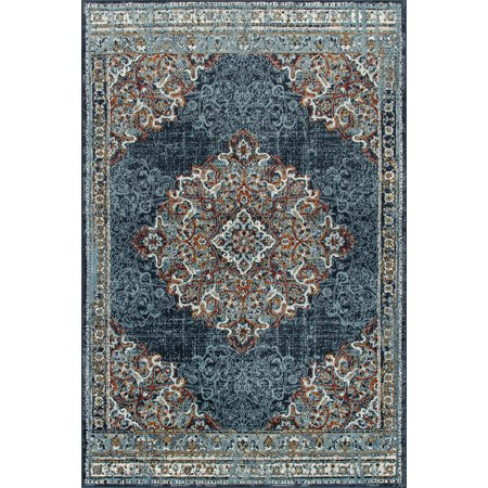 Wallington Collection -Blue Persian Oriental Traditional Area Rug ()