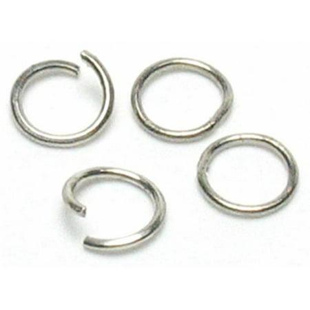 - 479892 Jewelry Basics Metal Findings 300-Pkg-Silver Open-Close Jump Rings