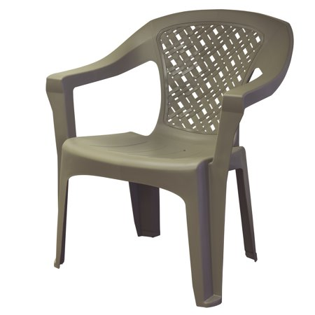 Adams Mfg Corp Resin Big Easy Woven Chair Grey Walmart Com