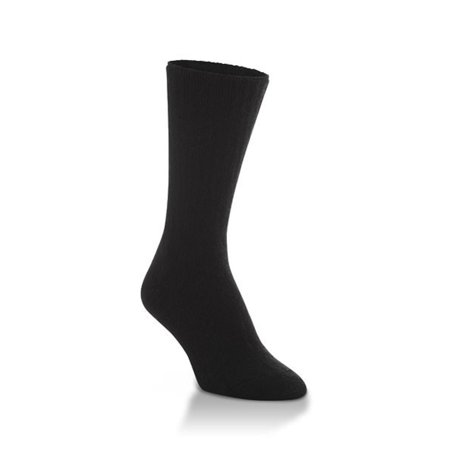 Navy Block - World's Softest Socks - Classic Collection - Crew - Black - Large