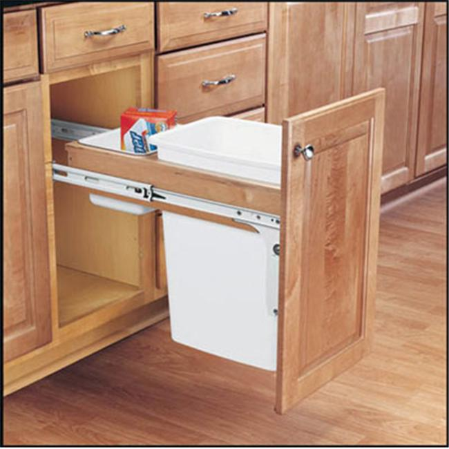 Rev-A-Shelf RS4WCTM. 1816DM. 1 Single 15 inch W x 16. 25 inch D x 18 inch H Pullout Bins  Top Mount