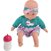 """My Sweet Love 12.5"""" My Cuddly Baby with Sound, Green, Pink & Purple Outfit"""