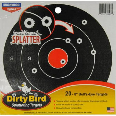 Dirty Bird® Splattering Targets 8 in. Bull's-Eye Targets 20 ct Pack
