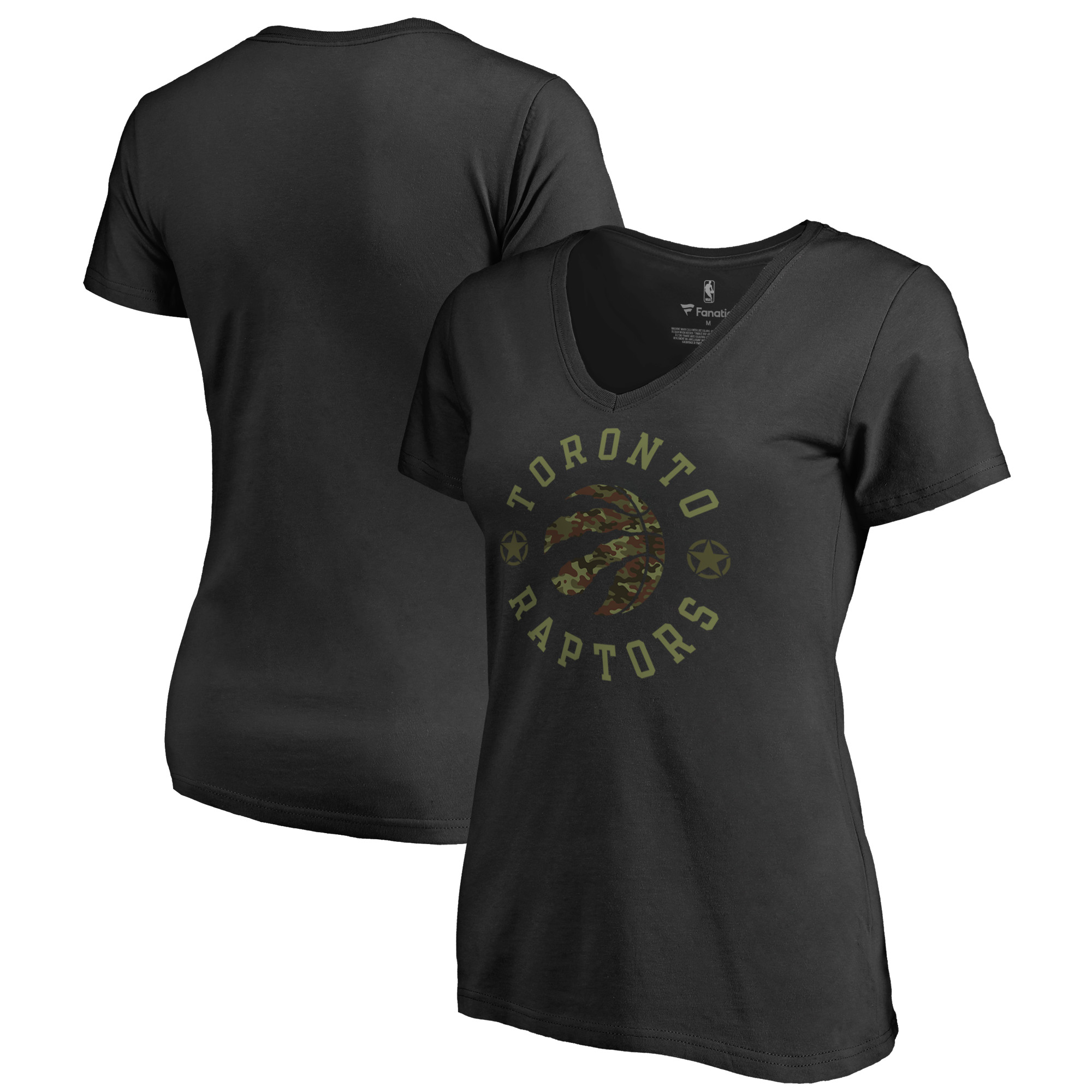 Toronto Raptors Fanatics Branded Women's Liberty V-Neck T-Shirt - Black