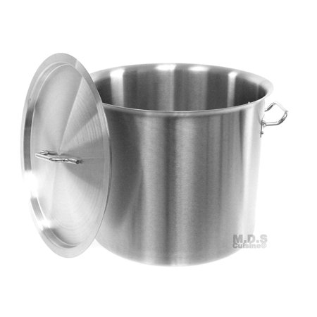 Stock-Pot 20 Qt Stainless Steel Commercial Heavy Duty Kitchen Restaurant Olla Steam Rack Pot with Lid (20 Qt StockPot) ()
