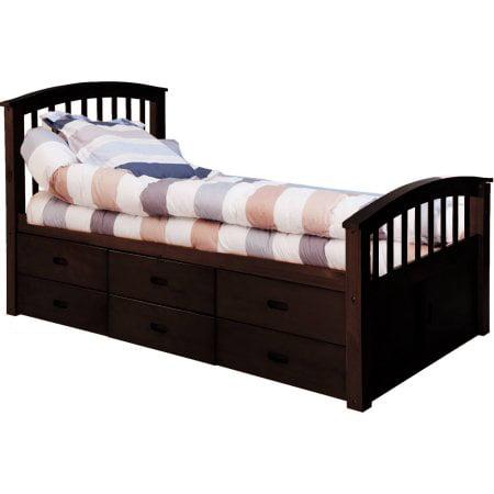 Merax Solid Wood Storage Twin Platform Bed With 6 Drawers Walmart Com