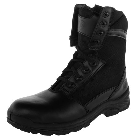 Rucks 8 Mens Shield Tactical Working Boots Lace Up Side Zipper Soft Toe Black