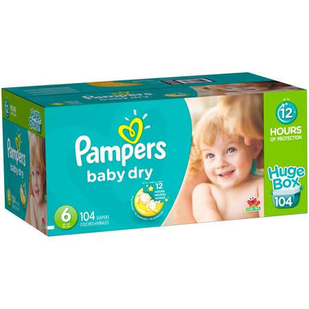 3de1904ab138e Pampers Baby-Dry Diapers Size 6 104 Count - Walmart.com
