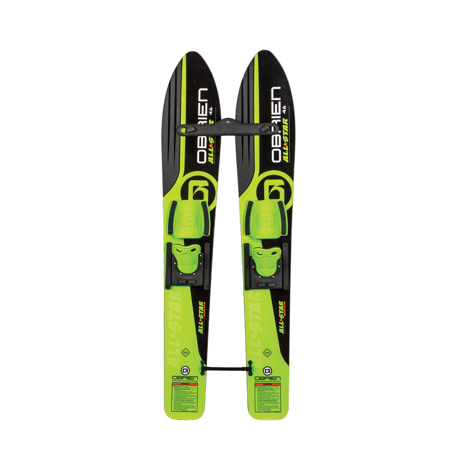 OBrien 46 Inch Children All Star Trainer Kids Combo Waterskis w/ Trainer Rope