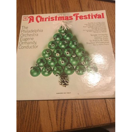 The Philadelphia Orchestra Eugene Ormandy A Christmas Festival Columbia ()