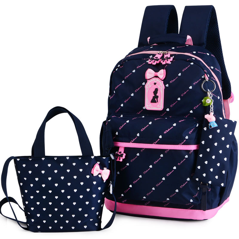 Children School Bags Teenagers Girls Printing Rucksack school Backpacks 3pcs/Set Mochila kids travel backpack Cute shoulder bag
