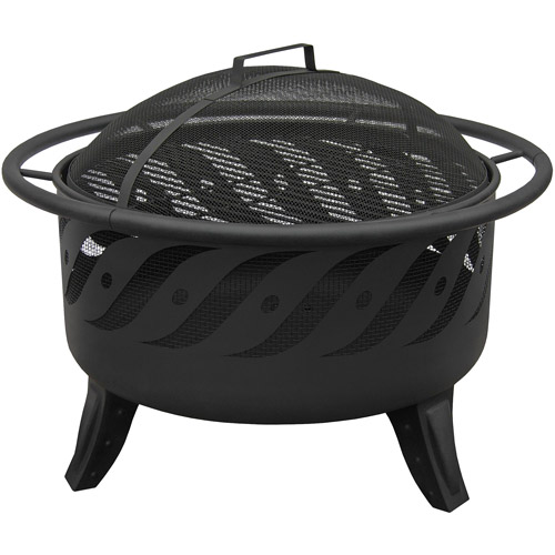 Landmann USA Patio Lights Firewave Firebowl, Black