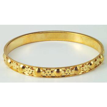 Gypsy Thin Gold Studded Bangle Bracelet