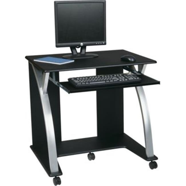 Avenue 6 Office Star SAT117 Computer Cart - Black with Silver