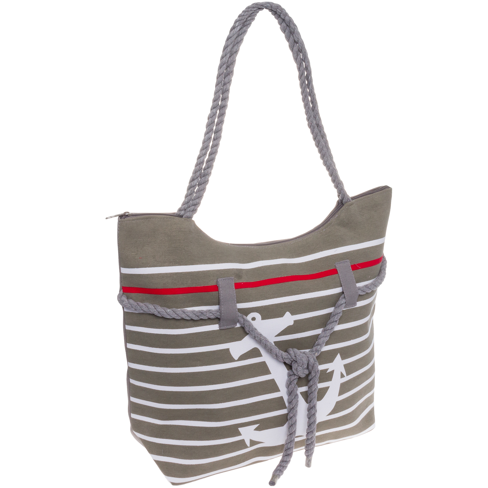 SILVERHOOKS NEW Women's Striped Nautical Anchor Beach Tote Bag ...