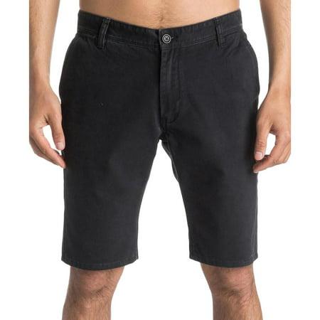 Quiksilver Mens Straight Tapered Fit Slit Pocket Khaki, Chino Shorts