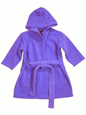 WXY Baby-boys Hooded Fleece Robe Dark Green / 9-12 Months