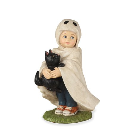 Bethany Lowe TD7629 Halloween Little Ghost Jack With Black Cat 2018 - Halloween Coloring Black Cat