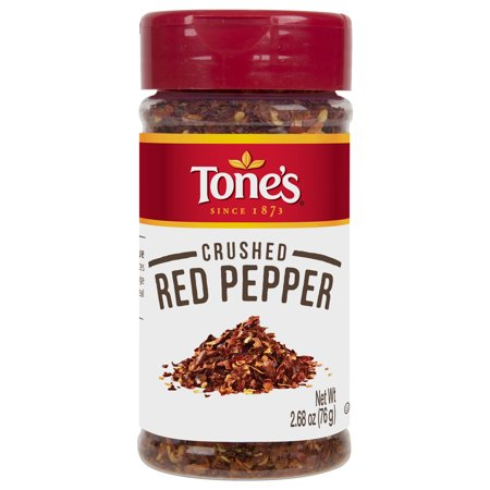 (4 Pack) Tone's Crushed Red Pepper, 2.68 oz