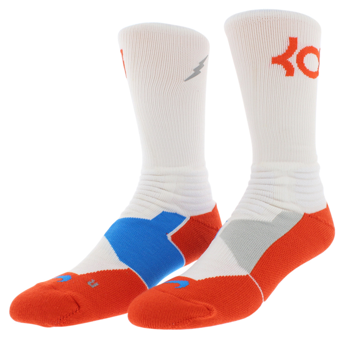 Nike Mens Hyper Elite Kevin Durant Socks White