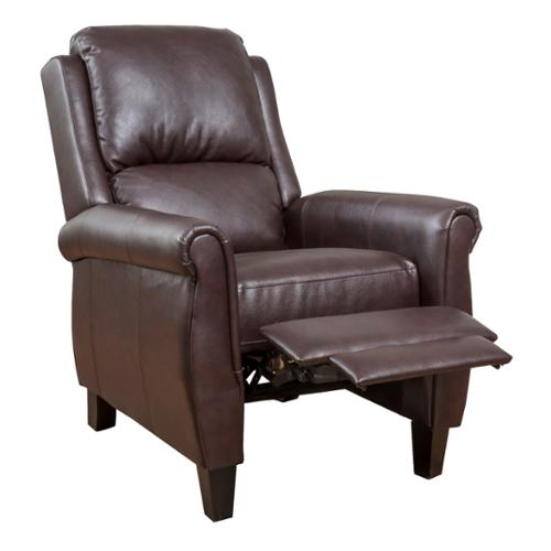 Denise Austin Home Memphis Leather Recliner Club Chair