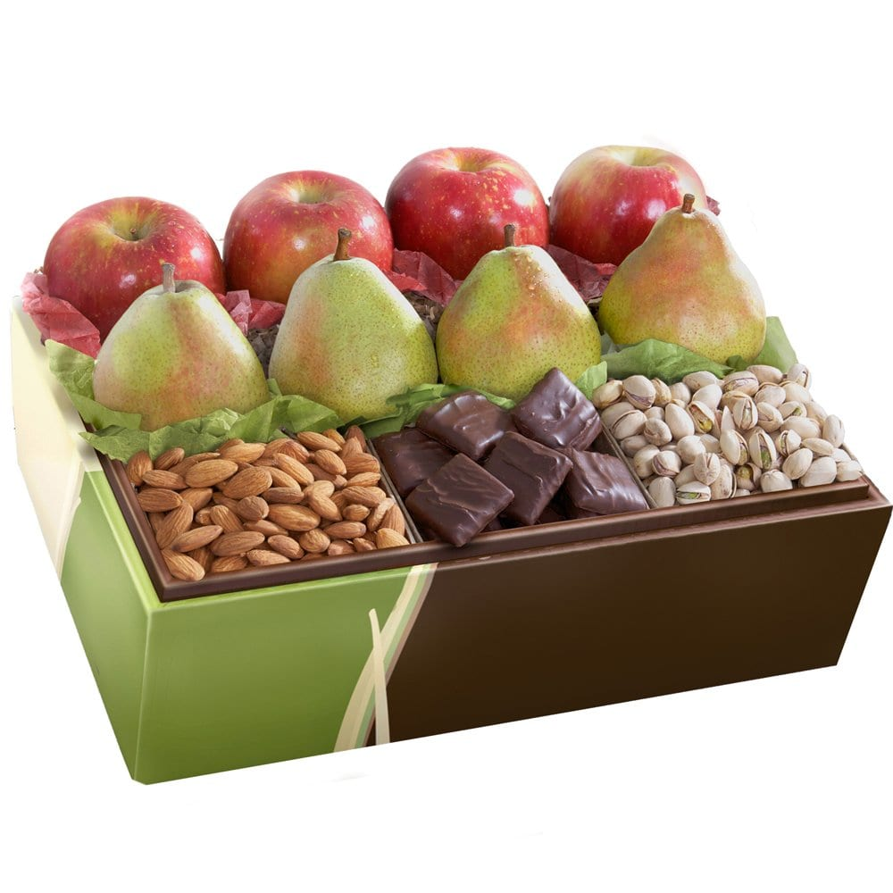 California Fruit Gifts Organic Munch and Crunch Deluxe Fruit Basket