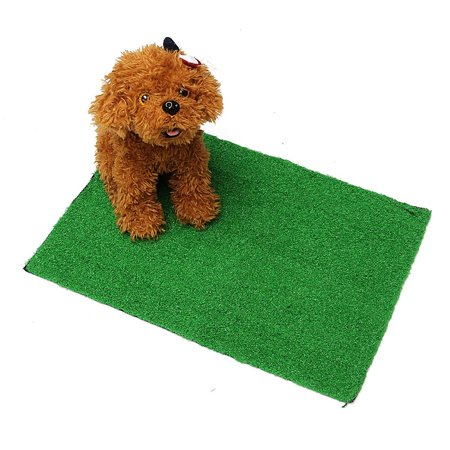 Pet Dog Cat Artificial Grass Toilet Mat Indoor Potty Trainer Grass Turf Pad (Kayano Trainer)