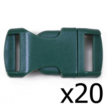Hunter Green 1/2 Inch Buckle - 20 pack - Great for Paracord 20 Pack Caviar Green