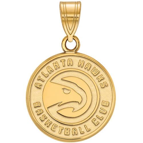 LogoArt NBA Atlanta Hawks 10kt Yellow Gold Medium Pendant
