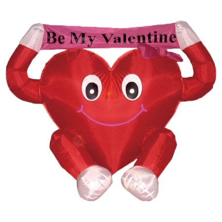 4' Inflatable Be My Valentine Valentine's Day Outdoor Decoration - Outdoor Valentine Decorations