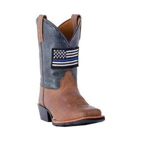 Children's Dan Post Boots Thin Blue Line Cowboy Boot DPC3956 - Thin Booth