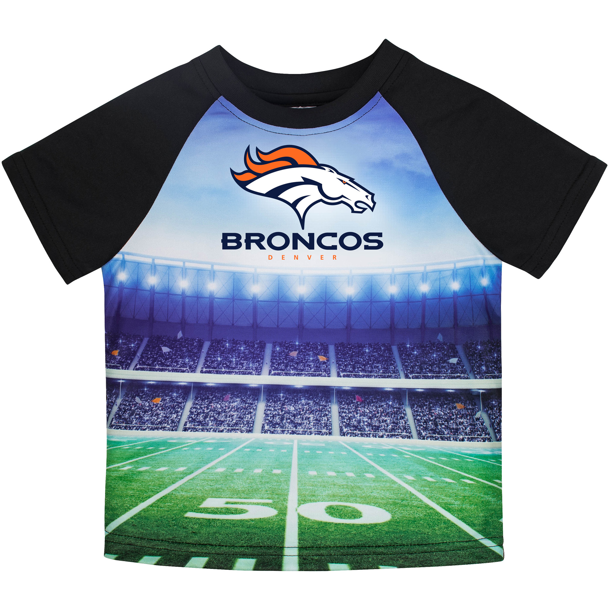 Toddler Gerber Black Denver Broncos Stadium T-Shirt