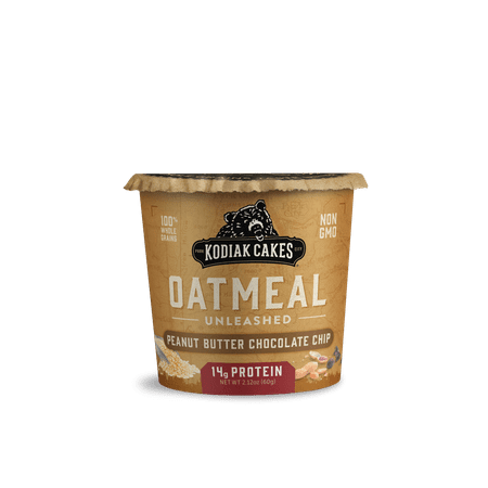 Kodiak Cakes Unleashed Oatmeal, Peanut Butter Chocolate Chip Instant Oatmeal, 2.12 (Best No Bake Chocolate Peanut Butter Oatmeal Cookies)
