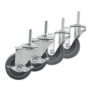 """3"""" 4"""" 5"""" 6"""" Swivel Castors with Brakes Rubber Steel Caster Wheels Trolley"""