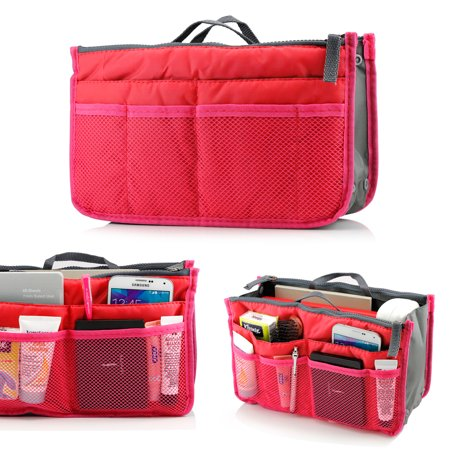 Lady women travel insert organizer compartment bag handbag - Organizador de carteras ...