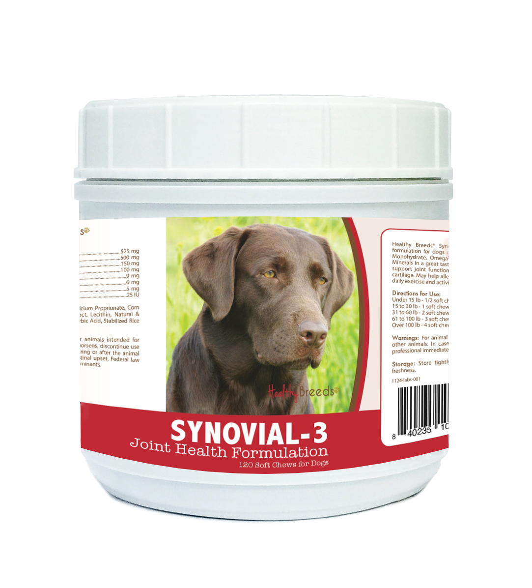 Healthy Breeds Labrador Retriever Synovial-3 Joint Health Formulation 120 Count