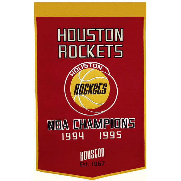 NBA Houston Rockets 2' x 3' Dynasty Banner